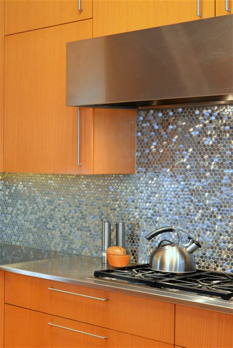 stainless steel backsplash contemporary kitchen stainless steel sparkles on backsplash contemporary