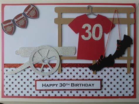 Handmade Football Cards - handmade card football arsenal 2 my work