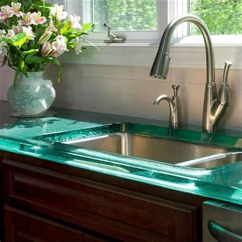 25 best ideas about glass countertops on