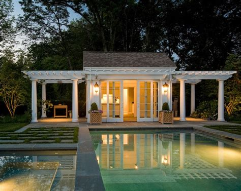 pool houses cabanas simple and cozy pool house cabanas pinterest