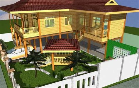 cara membuat rumah adat sumatera utara dari kardus desain dan model rumah panggung kayu minimalis sunda modern
