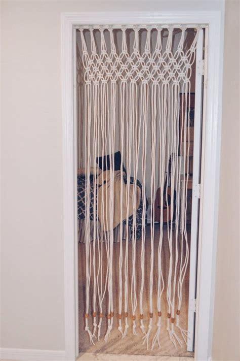 diy closet door curtains macrame door curtain boho decor teen by