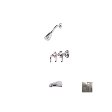 Three Handle Shower Faucet Brushed Nickel by Shop Premier Faucet Sanibel Brushed Nickel 3 Handle