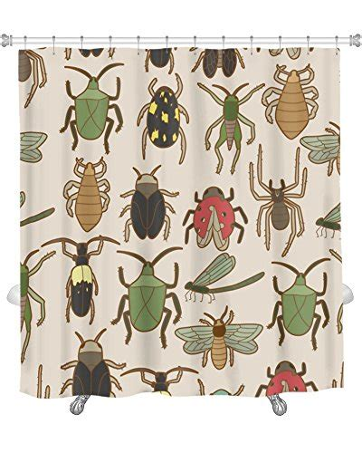 bug shower curtain gear new shower curtain image of bug pattern gn18659