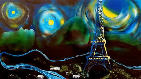 Sprei Eiffel Tower and eiffel tower acrylic spray paint