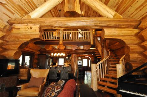 log house interiors 2013 parade home moose ridge cabin log home rustic living room denver by