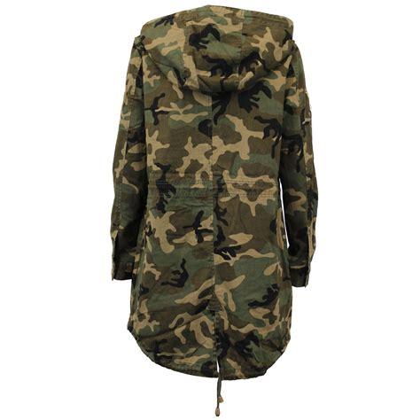 Camouflage Hooded Jacket jacket brave soul womens coat camouflage
