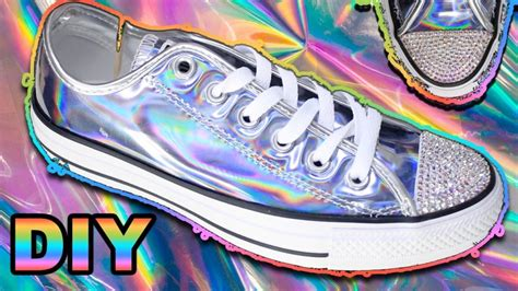 diy holographic shoes iridescent 12 diy holographic projects