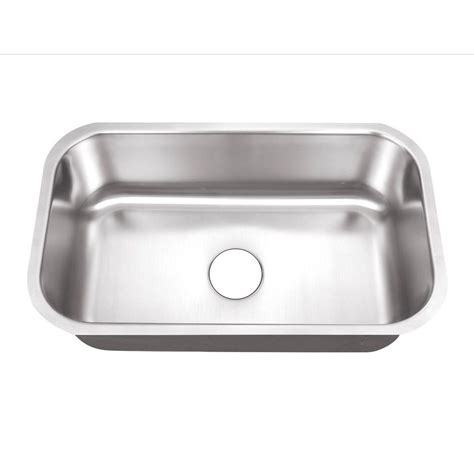 Stainless Steel Undermount Kitchen Sinks Single Bowl Foret Undermount Stainless Steel 30 In 0 Single Basin Kitchen Sink Bfm408 The Home
