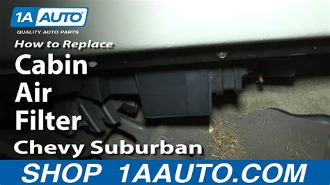 install replace cabin air filter   chevy