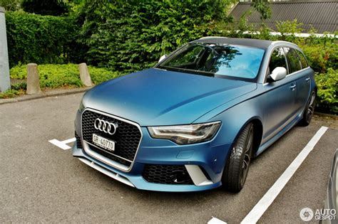 Audi Rs6 Matt by Matte Blue Audi Rs6 Is A Sight To Behold