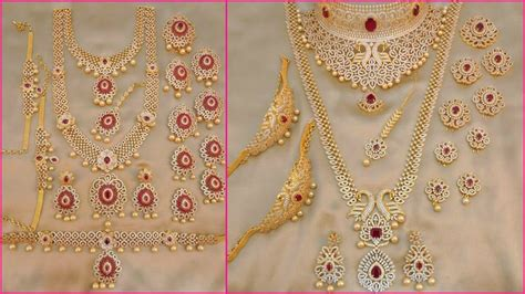One Set Aksesoris Perhiasan Gold 1 gm gold bridal jewellery sets with price 1 gram gold jewellery with price