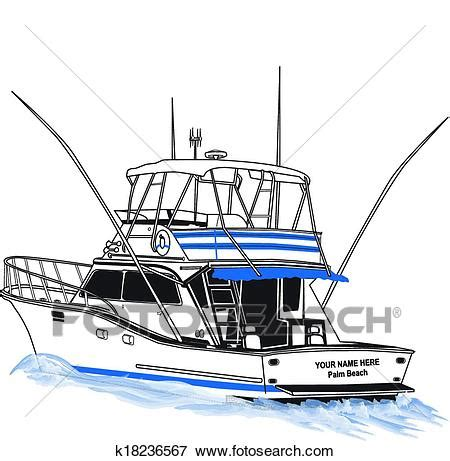 fishing boat clipart illustrations clip art of offshore sport fishing boat k18236567 search
