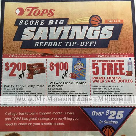 tops grocery coupons printable tops markets store coupons from the 3 13 smartsource