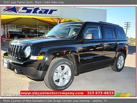 black 2013 jeep patriot sport slate gray interior