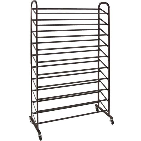 50 pair shoe cabinet rolling shoe rack 50 pair in shoe racks
