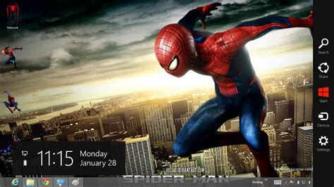 download themes for windows 7 spiderman the amazing spider man 4 theme for windows 8 ouo themes