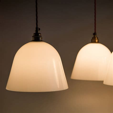 Opal Glass Pendant Light Opal Glass Bletchley Shade Pendant Light By Factorylux Notonthehighstreet
