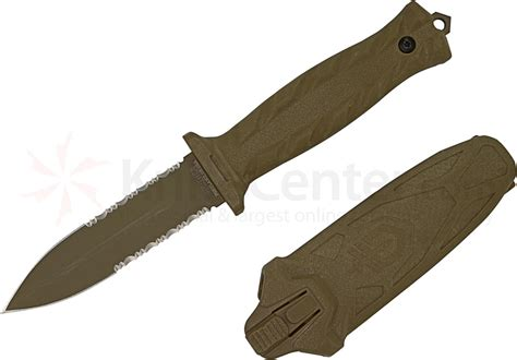 How To Sharpen Serrated Kitchen Knives by Gerber De Facto Combat Dagger Fixed 4 Quot S30v Double