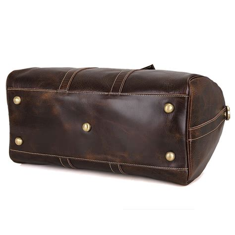 Handmade Duffle Bags - handmade vintage leather travel bag luggage duffle bag