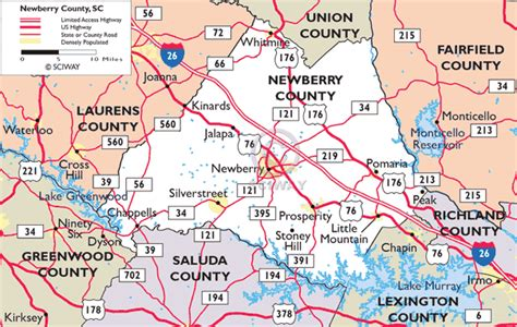 Pdf Of State Newberry by Maps Of Newberry County South Carolina