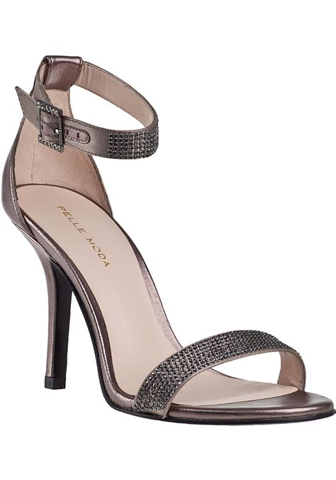pewter color sandals pelle moda evening sandal pewter leather in metallic