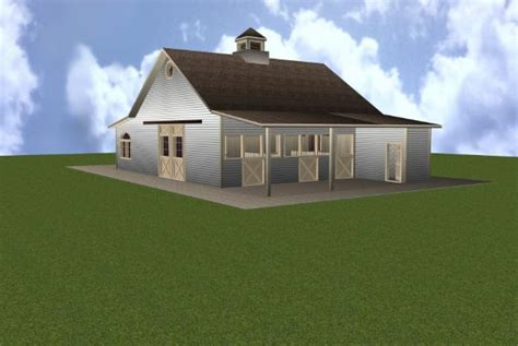 barn with apartment plans 3 stall horse barn plan with apartment
