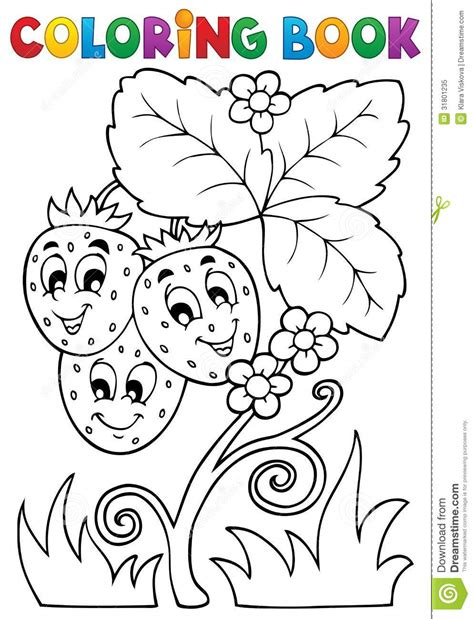 coloring book vector coloring book fruit theme 4 royalty free stock photo