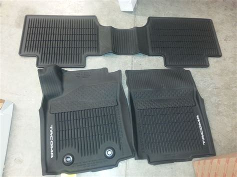 Toyota All Weather Floor Mats 2016 2017 Toyota Tacoma Factory All Weather Front Rear