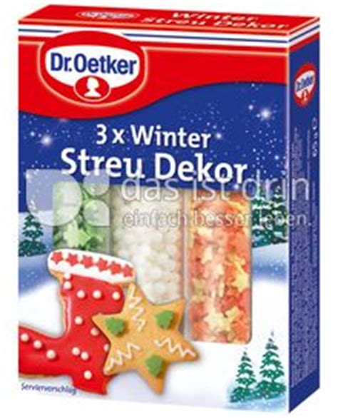 dr oetker dekor dr oetker winter streu dekor kalorien kcal und