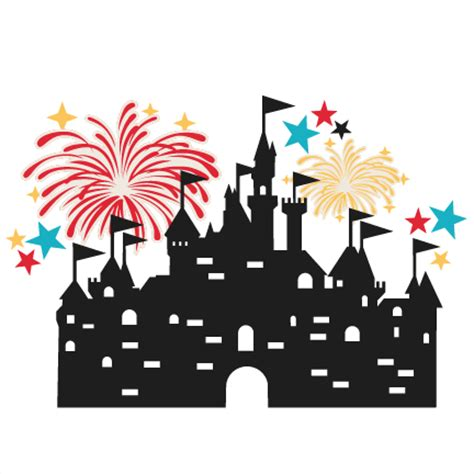 castle with fireworks svg scrapbook cut file cute clipart