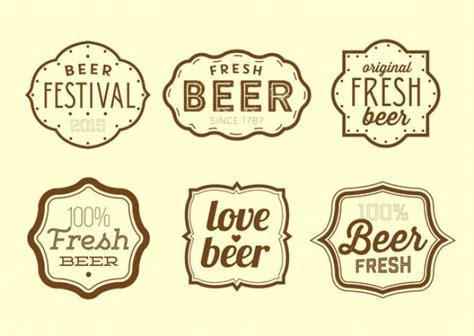 Bieretiketten Vorlage by Etiquetas De Cerveza Serie Vintage Descargar Vectores Gratis