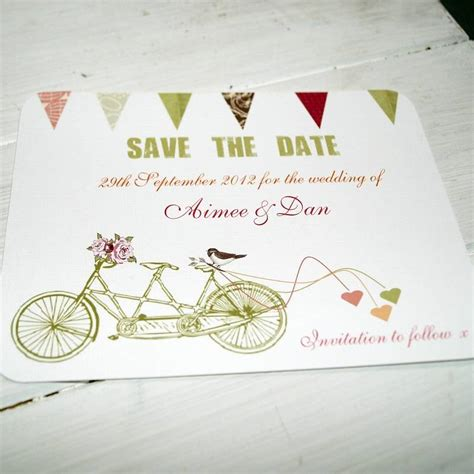 bicycle for two wedding invitations made for two save the date card by beautiful day