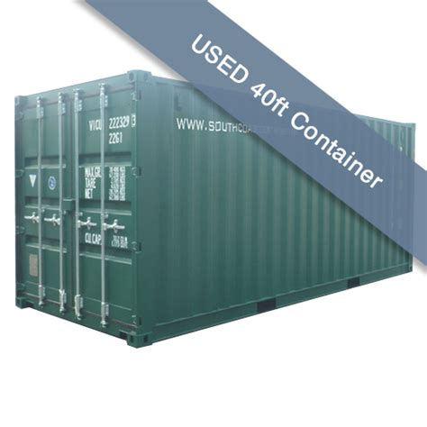 used storage container used 40ft shipping container request quote south coast