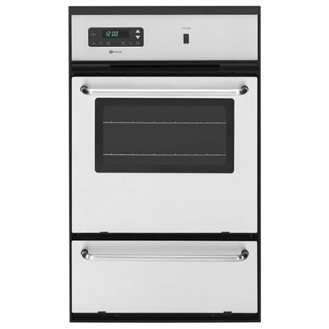 maytag ovens 24 in single gas wall oven in stainless