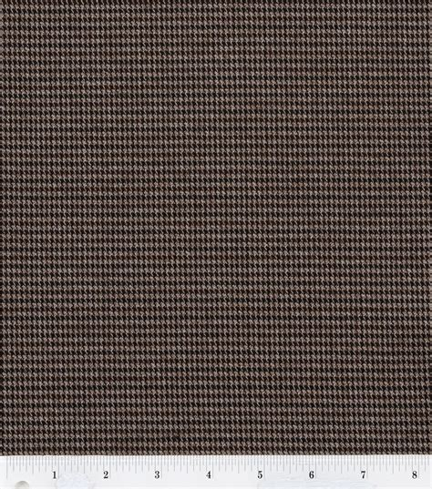brown houndstooth pattern fashion suitings brown navy houndstooth fabric at joann com