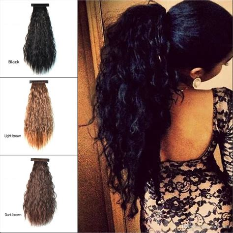 Hairclip Ponytail Curly 55cm 22 puffs ponytails pat circle curly