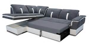 canape d angle 224 droite convertible galaxia blanc gris
