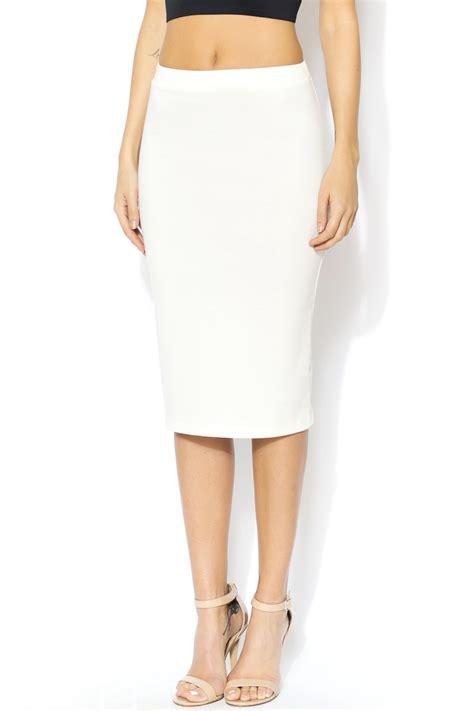 moa white pencil skirt from massachusetts by black box