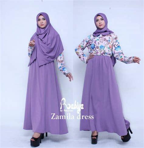 Terlaris Gamis Syari Vina Lavender Ungu Baju Gamis Pesta Mode Baju M zamila dress ungu baju muslim gamis modern