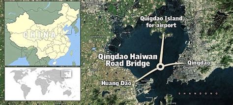 qingdao haiwan bridge china constructs world s longest bridge 187 chinalert