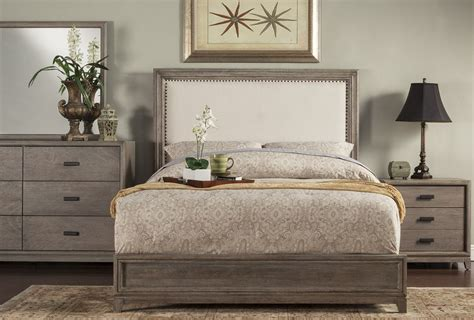 camilla bedroom set camilla grey upholstered panel bedroom set from alpine