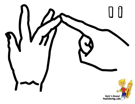 Free Coloring Pages Of 1 10 Caterpillar Sign Language Coloring Pages
