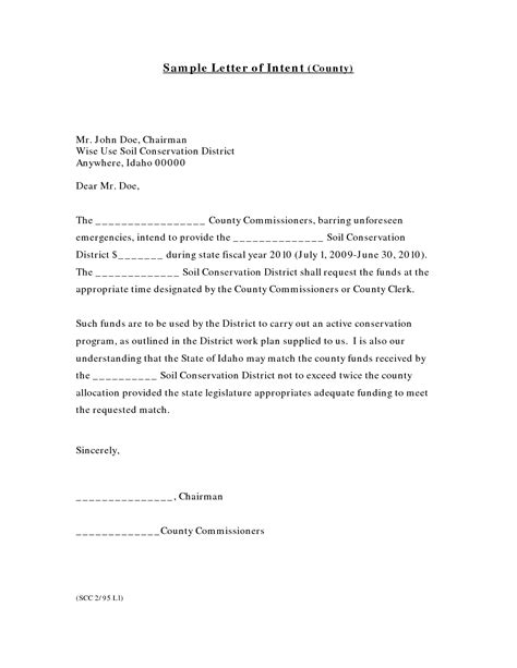 Letter Of Intent Work Sle Letter Of Intent For Writing Professional Letters
