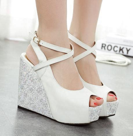Flat Shoes Big E Sandal Sepatu Wanita Heels Wedges Boot Kets Sneaker cross strappy blue white wedding shoes platform wedge