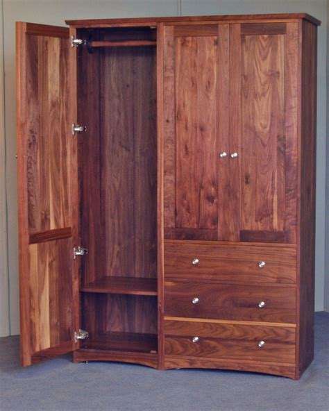 wardrobes armoires double armoire in black walnut scott jordan furniture