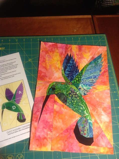 Pieced Quilt Patterns by Paper Pieced Mango Hummingbird Quilt Pattern Batik