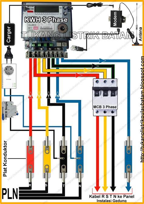 cara memasang panel listrik 3 phase kwh meter tukang