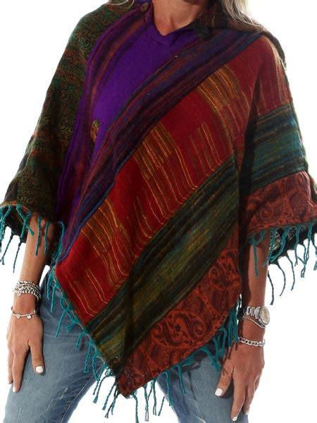Himalayan Handmades - wholesale nepalese patch shawl poncho
