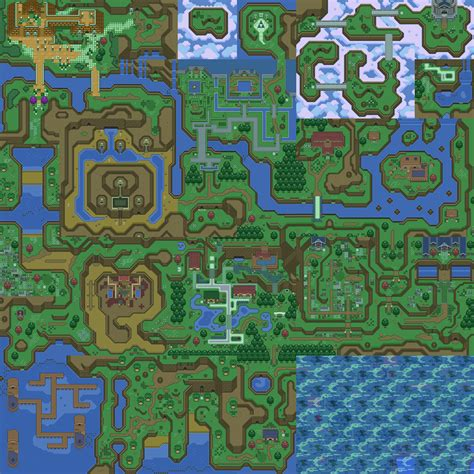 legend of zelda world map the legend of zelda parallel worlds maps overworld